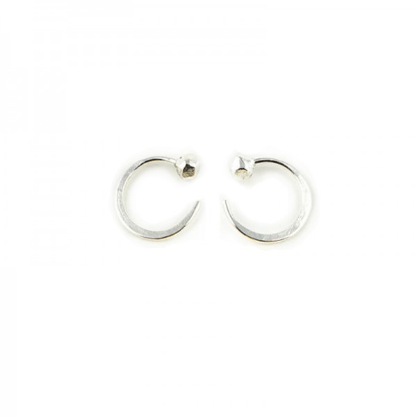 tiny silver inside out hoops