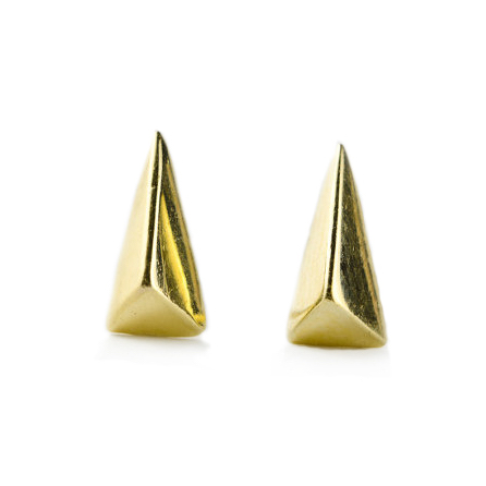 yellow gold triangles